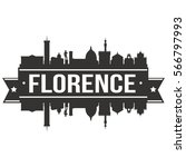 florence skyline stamp... | Shutterstock .eps vector #566797993