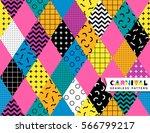 carnival seamless pattern in... | Shutterstock .eps vector #566799217