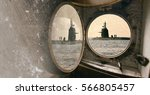 old submarine  border protection | Shutterstock . vector #566805457
