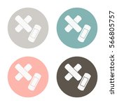 plaster icon. band aid. vector... | Shutterstock .eps vector #566805757