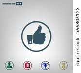 vector thumb up icon | Shutterstock .eps vector #566806123