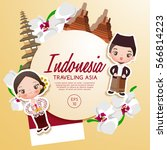 traveling asia   indonesia... | Shutterstock .eps vector #566814223