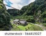 beautiful valley and japanese... | Shutterstock . vector #566815027