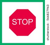 road sign   stop .vector.   Shutterstock .eps vector #566827963