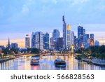 view of frankfurt am main... | Shutterstock . vector #566828563