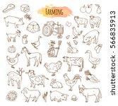 hand drawn farm elements....   Shutterstock .eps vector #566835913