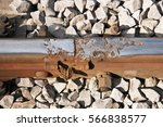 Damaged Railway Track Stock...