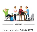 group of business people... | Shutterstock .eps vector #566845177
