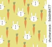 vector print with rabbit | Shutterstock .eps vector #566848477
