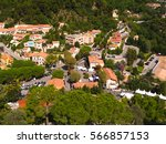 panoramic view of rural village | Shutterstock . vector #566857153