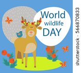 world wildlife day. greeting