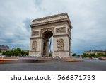 arc de triomphe in paris | Shutterstock . vector #566871733