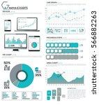 big bundle of diagram  chart ... | Shutterstock .eps vector #566882263