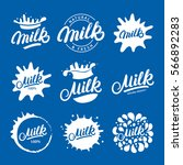 set of hand written lettering... | Shutterstock .eps vector #566892283