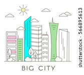 vector city and town... | Shutterstock .eps vector #566895613