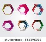 geometric pentagon. business... | Shutterstock .eps vector #566896093