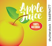 vector banner with apple and... | Shutterstock .eps vector #566896477