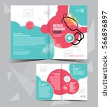 a4 medical brochure layout... | Shutterstock .eps vector #566896897