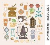 coffee illustration concept...   Shutterstock .eps vector #566901373