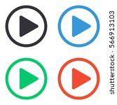 play button icon   colored... | Shutterstock .eps vector #566913103