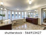 luxurious master bathroom... | Shutterstock . vector #566913427