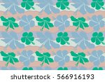 seamless pattern of hawaiian... | Shutterstock . vector #566916193