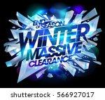 winter massive clearance sale... | Shutterstock .eps vector #566927017
