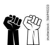 human fist hand icon set vector ... | Shutterstock .eps vector #566940223