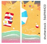 summer time two cards | Shutterstock .eps vector #566944423