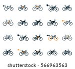 Electric Bicycle  E Bike Icons...