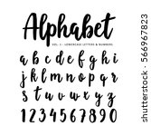 hand drawn vector alphabet ... | Shutterstock .eps vector #566967823