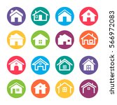home icons design elements | Shutterstock .eps vector #566972083