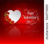 valentines heart. decorative... | Shutterstock .eps vector #566974003