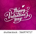 happy valentine's day text.... | Shutterstock .eps vector #566974717