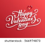 happy valentine's day text.... | Shutterstock .eps vector #566974873