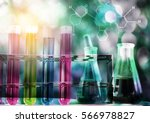 equipment and science... | Shutterstock . vector #566978827