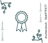 award line icon   Shutterstock .eps vector #566979577