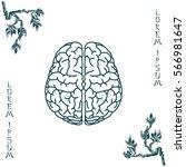 brain line icon | Shutterstock .eps vector #566981647