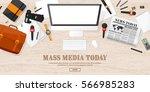mass media background in a flat ...   Shutterstock .eps vector #566985283