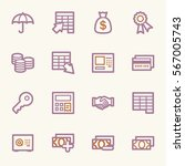 finance and banking icons | Shutterstock .eps vector #567005743