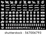 silver ribbon banner label... | Shutterstock .eps vector #567006793