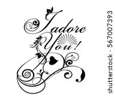 I Adore You  Calligraphic...