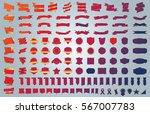 red banner ribbon label vector... | Shutterstock .eps vector #567007783