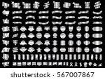 silver banner ribbon label... | Shutterstock .eps vector #567007867