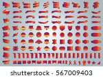 label ribbon banner gold vector ... | Shutterstock .eps vector #567009403