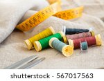 particular detail of sewing... | Shutterstock . vector #567017563