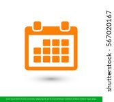 calendar icon. one of set web... | Shutterstock .eps vector #567020167