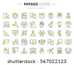 set vector line icons  sign and ... | Shutterstock .eps vector #567022123