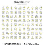 set vector line icons in flat... | Shutterstock .eps vector #567022267