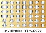 silver frame vector icon design ... | Shutterstock .eps vector #567027793